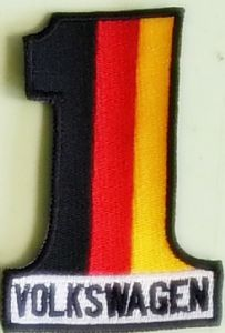 Volkswagen #1 German Flag colours sew-on embroidered patch (yy)